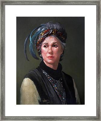 In Her Vintage Style Framed Print by Kathryn Donatelli