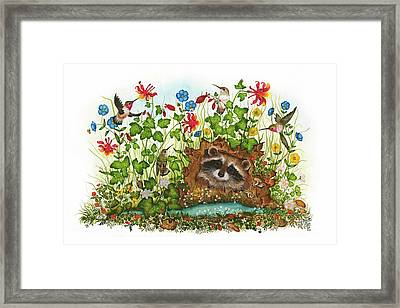 In Hiding Framed Print by Donna Genovese