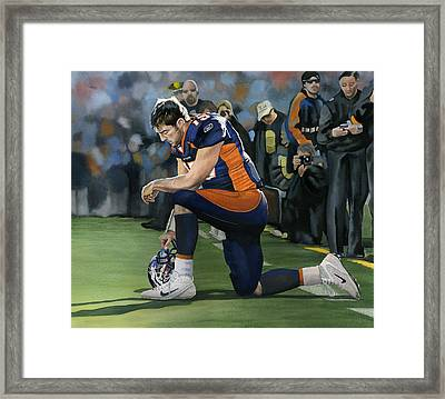 In Him I Can Do All Things Framed Print by Rich Marks