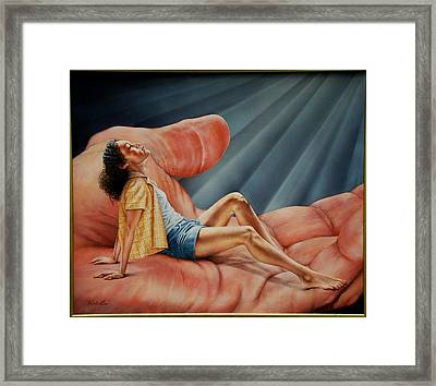 In His Presence Rest Framed Print by Ruth Gee
