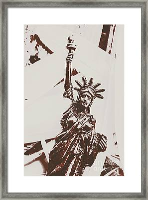 In Liberty Of New York Framed Print by Jorgo Photography - Wall Art Gallery