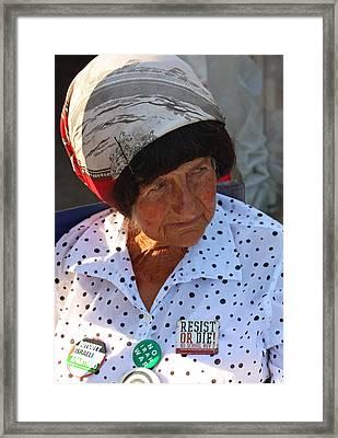 In Memoriam -- Concepcion Picciotto Framed Print by Cora Wandel