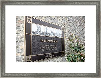Framed Print featuring the photograph In Memoriam - Ypres by Travel Pics