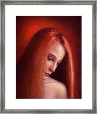 In Mourning Framed Print by Philip Straub