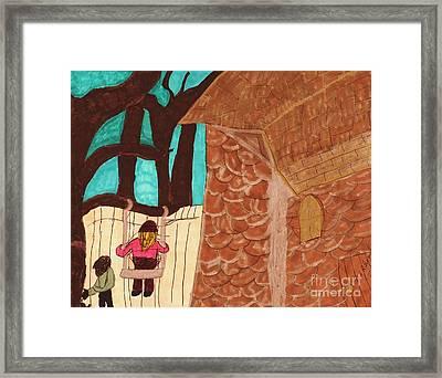 In My Back Yard Framed Print by Elinor Rakowski