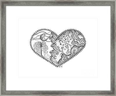 Repaired Heart Framed Print by Ana V  Ramirez