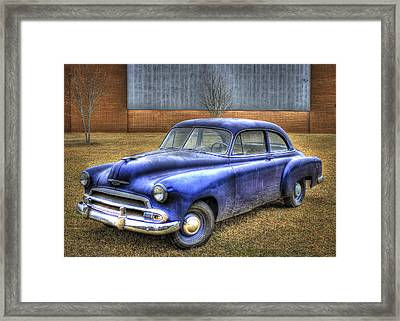 In Retirement 1951 Chevrolet Coupe Framed Print by Reid Callaway