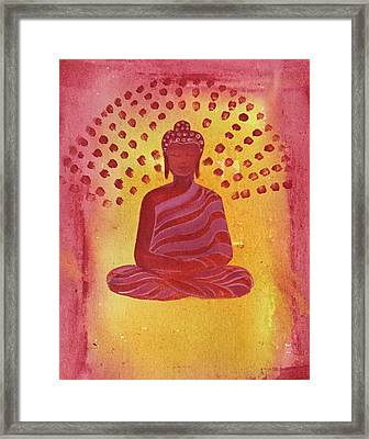 In Search Of Life - Lord Buddha Framed Print by Nayna Tuli Fineart