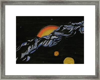 In Space Framed Print by Carolyn Cable