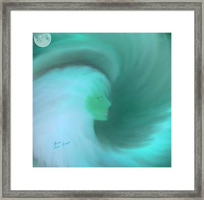 In The Arms Of An Angel Framed Print by Sherri  Of Palm Springs