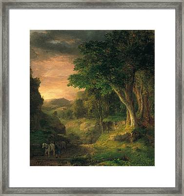 In The Berkshires Framed Print by George Inness