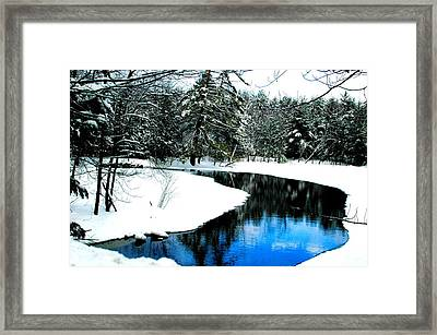 In The Blue Framed Print by Emily Stauring