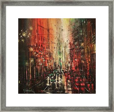 In The City Again Framed Print by Tom Shropshire