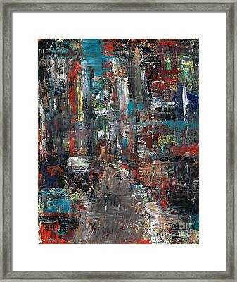 In The City Framed Print by Frances Marino