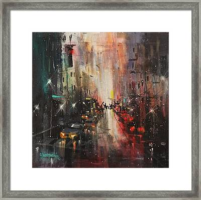 In The City Framed Print by Tom Shropshire