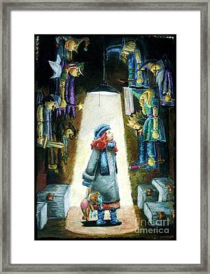 In The Closet Of The Puppeteer Framed Print by Yagmur Telorman
