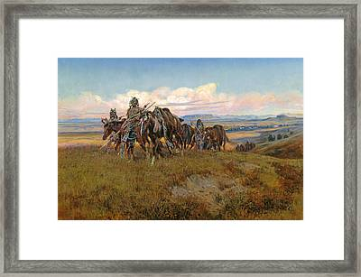 In The Enemy's Country Framed Print by Charles Marion Russell