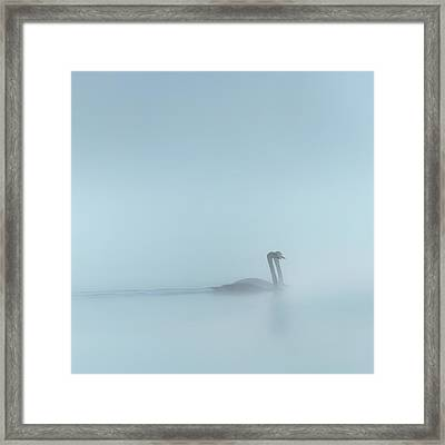 In The Fog Square Framed Print by Bill Wakeley