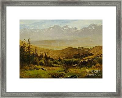 In The Foothills Of The Rockies Framed Print by Albert Bierstadt