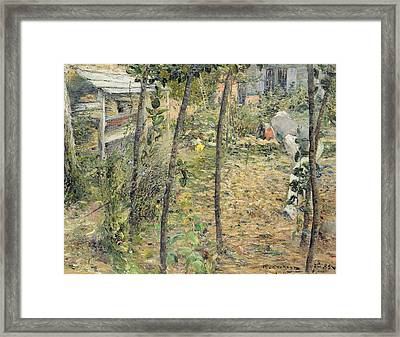 In The Garden Framed Print by Charles Angrand