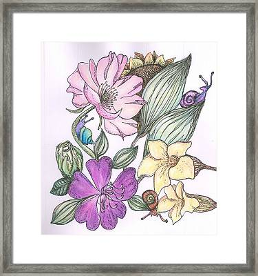 In The Garden Framed Print by Cherie Sexsmith