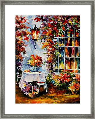 In The Garden Framed Print by Leonid Afremov