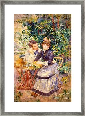In The Garden Framed Print by Pierre Auguste Renoir