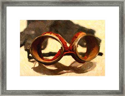 In The Golden Age Of Driving Framed Print by Wingsdomain Art and Photography