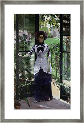 In The Greenhouse Framed Print by Albert Bartholome