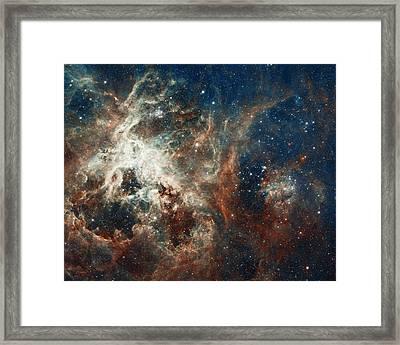In The Heart Of The Tarantula Nebula Framed Print by Mark Kiver