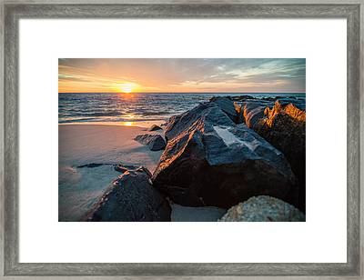 In The Jetty Framed Print by Kristopher Schoenleber