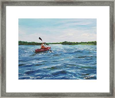 In The Kayak Framed Print by Jack Skinner
