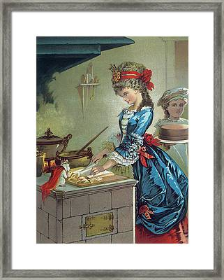 In The Kitchen Framed Print by Carl Offterdinger