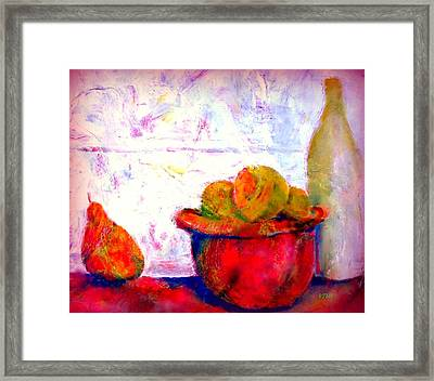 In The Kitchen Framed Print by VIVA Anderson