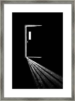 In The Light Of Darkness Framed Print by Evelina Kremsdorf