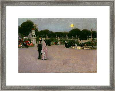 In The Luxembourg Gardens Framed Print by John Singer Sargent