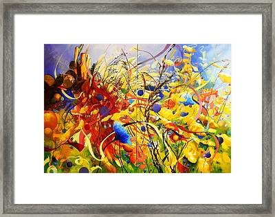 In The Meadow Framed Print by Georg Douglas