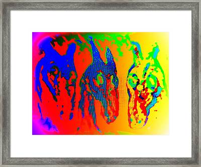 We Like To Sing A Song Whenever We Are In The Melancholic Corner   Framed Print by Hilde Widerberg