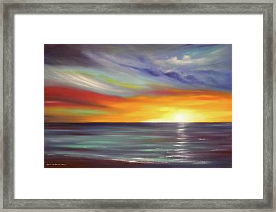 In The Moment Framed Print by Gina De Gorna