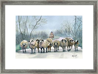 In The Morning Mist Framed Print by Marsha Elliott