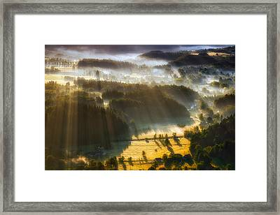 In The Morning Mists Framed Print by Piotr Krol (bax)