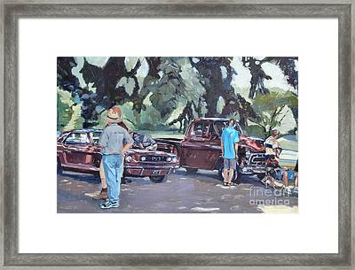 In The Red Framed Print by Deb Putnam