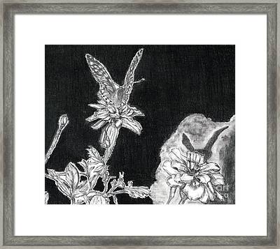 In The Shadow Of His Wings Framed Print by Joy Neasley