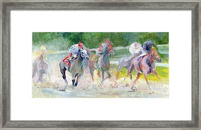 In The Slop Framed Print by Kimberly Santini