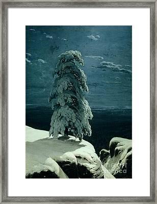 In The Wild North Framed Print by Ivan Ivanovich Shishkin