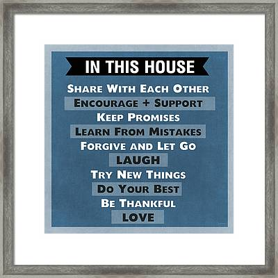 In This House Framed Print by Linda Woods