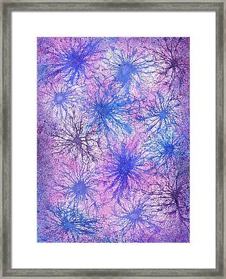 In Touch With The Divine #584 Framed Print by Rainbow Artist Orlando L aka Kevin Orlando Lau