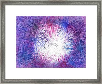 In Touch With The Divine #588 Framed Print by Rainbow Artist Orlando L aka Kevin Orlando Lau