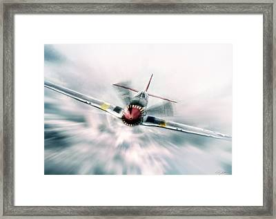In Your Face Framed Print by Peter Chilelli