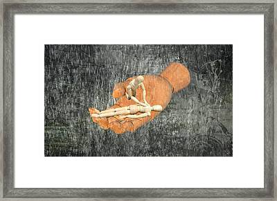 In Your Hands Framed Print by Ally White